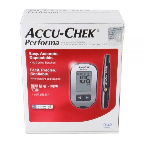 דין דיאגנוסטיקה Accu Check Performa - מד סוכר + 100 מקלוני בדיקה