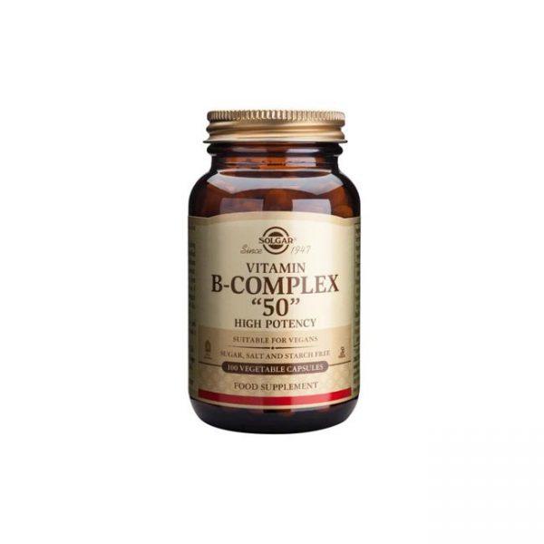 סולגאר ויטמין B-50 קומפלקס - SOLGAR Vitamin B-50 Complex