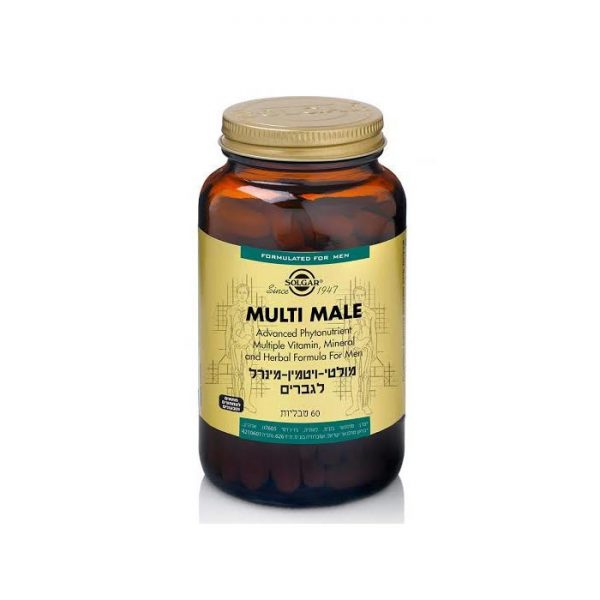 סולגאר מולטי ויטמין-מינרל לגברים - SOLGAR Multi Male Multi Vitamin